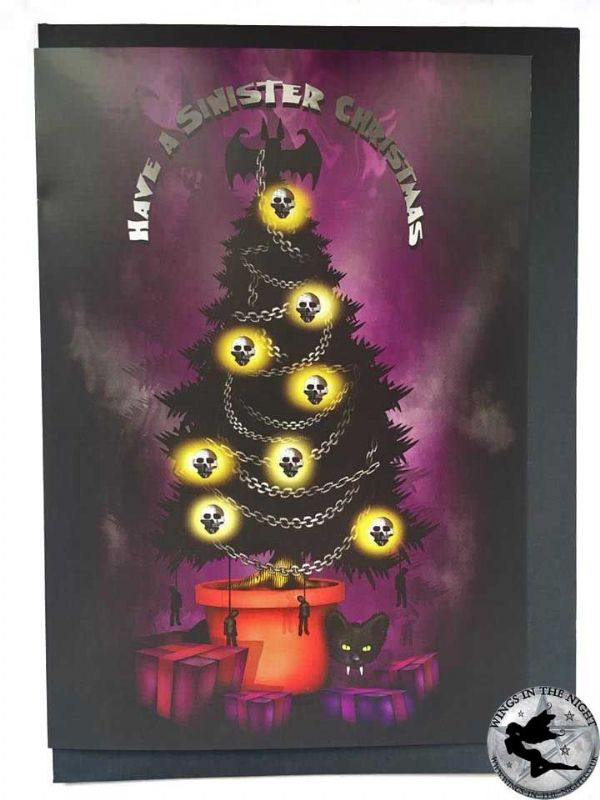 NIGHT MOTH Sinister Christmas Gothic Greeting Card